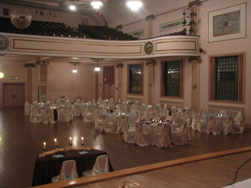 Chocolate Brown and Tiffany Blue wedding reception on November 7 2009